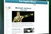 Michel Jackson Searches Crashes Website