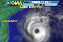 Inside the Eye of the Hurricane Earl