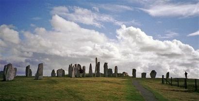 The prehistoric Callanish or Calanais standing ...