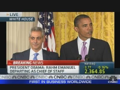 Obama on Rahm Emanuel's Exit