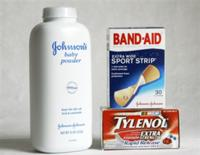 AP - FILE - In this April 14, 2009 file photo, Johnson & Johnson consumer products, Johnson's Baby Powder, Band-Aids ...
