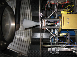 Aerojet Engine Test Demonstrates Engine Design                             Click Here to Download Image