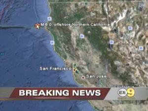 Magnitude-6.0 Quake Rattles Northern Calif. Coast