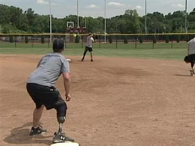 Wounded Warriors Inspire On Softball Field