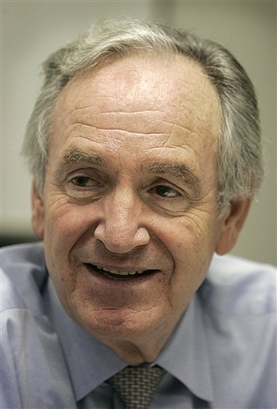 In this file photo, Sen. Tom Harkin, D-Iowa, speaks during an interview with The Associated Press, Sept. 30, 2005, in Des Moines, Iowa. (AP Photo/Char