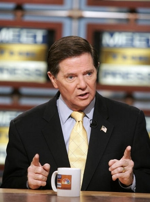Former Rep. Tom DeLay (R-TX) speaks during a taping of
