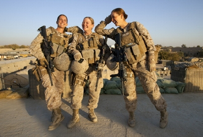 (L-R)  Sergeant Sheena Adams, 25, and Lance Corporal ...