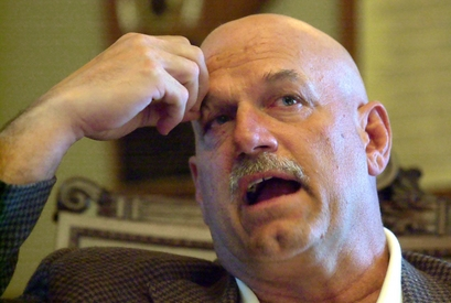 In this May 22, 2002, file photo, Minnesota Gov. Jesse Ventura talks in his office at the State Capitol …