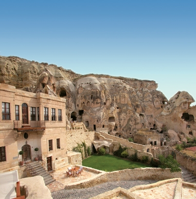 Nestled among the limestone caves of Cappadocia, ...