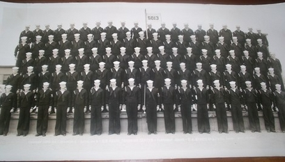 This photo from the author's grandfather shows Company 5013-44 - Regiment 2 - Battalion 5 from Sept. 19, 1944. (Photo courtesy of Sean Durity.)