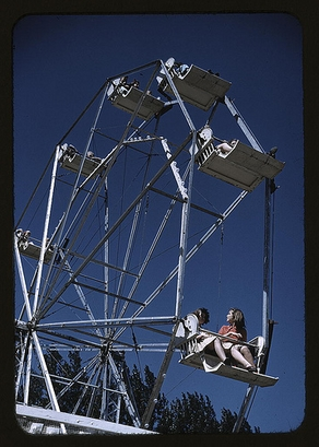 1941: On the ferris wheel at the Vermont state ...