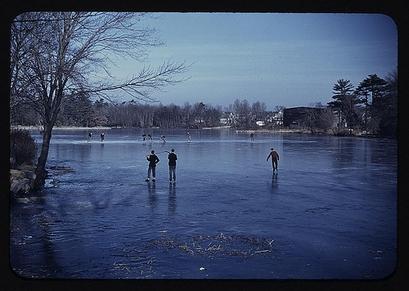 1940: Skating, vicinity of Brockton, Mass. (Photo: ...