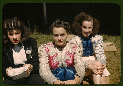 """1941: """"Backstage"""" at the """"girlie"""" show at the ..."""