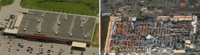 The roof of Joplin's Home Depot was torn off ...