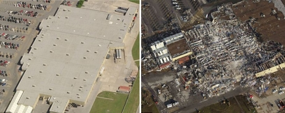 This Wal-Mart store was also destroyed by the ...