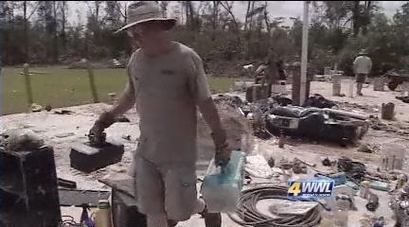 Bush residents spend holiday cleaning up after fierce tornado
