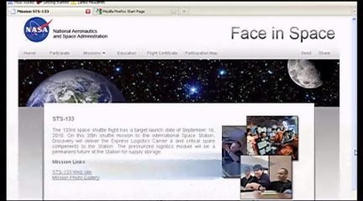 Nasa puts faces in space