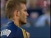Beckham back in action, fans mixed