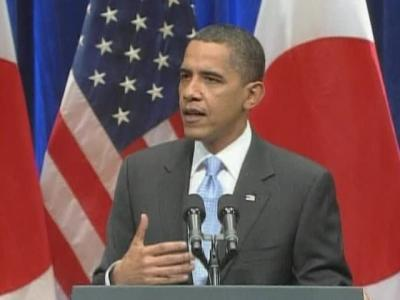 Obama kicks off Asia tour in Japan