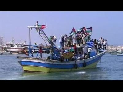 Boats try to break Gaza sea blockade