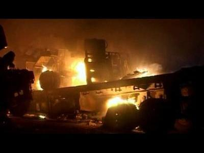 NATO trucks attacked