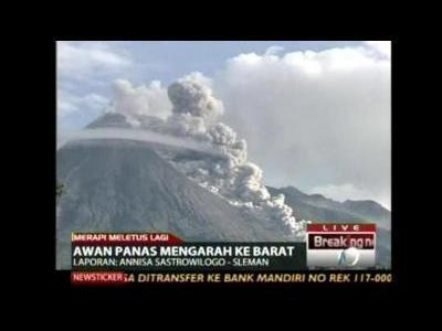 Indonesia's Merapi erupts again