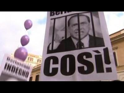 Anti-Berlusconi protest in Milan