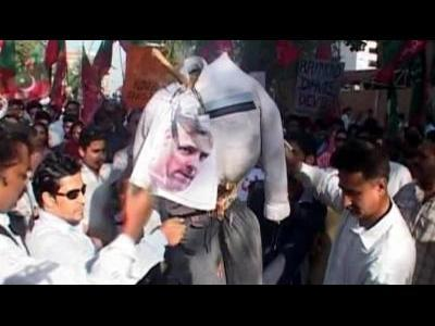 Street protest in Karachi over US consulate worker