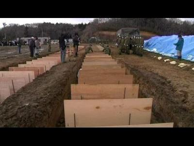 Mass grave in Japan