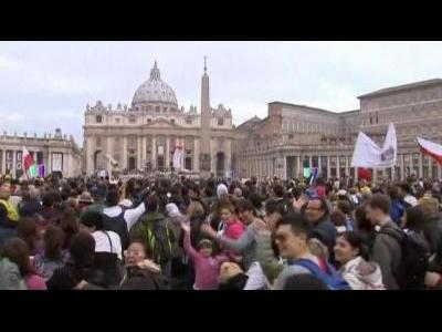 Pilgrims celebrate Pope's beatification