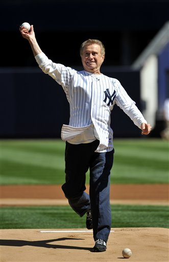 Television Host Regis Philbin Throws