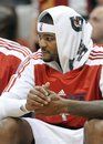 Atlanta Hawks forward Josh Smith sits on the bench in the second half against the Milwaukee Bucks during an NBA basketball game Wednesday, Nov. 10, 2010, in Atlanta. The Bucks defeated the Hawks 108-91.