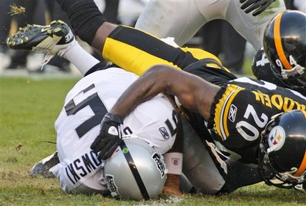 Pittsburgh Steelers Cornerback Bryant McFadden (20) Sacks