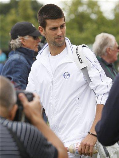 Serbia's Novak Djokovic Walks