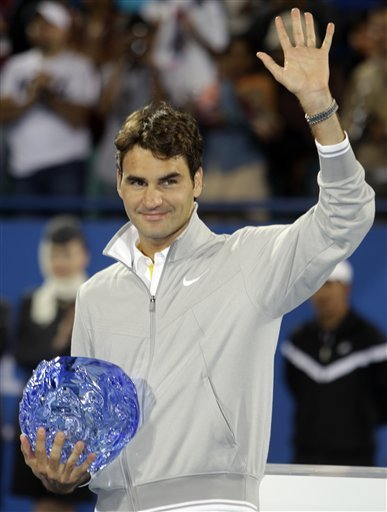 Switzerland's Roger Federer Poses