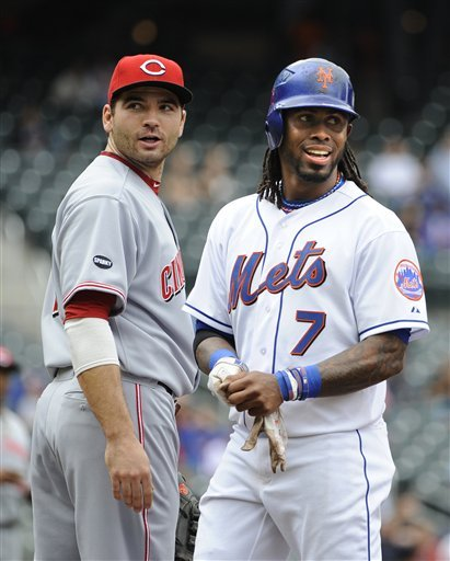 New York Mets' Jose Reyes (7) Smiles