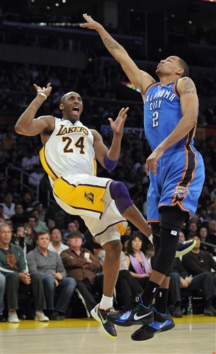 Los Angeles Lakers Guard Kobe Bryant Reacts