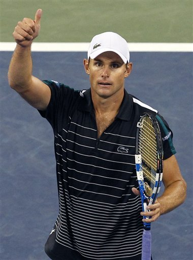 Andy Roddick, Of The United States, Gives