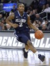 Villanova's Maalik Wayns (2) drives to the basket during the first half of an NCAA college basketball game against Providence , Wednesday, Jan. 26, 2011, in Providence, R.I. Providence defeated Villanova 83-68.