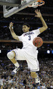 Connecticut's Jeremy Lamb dunks against Butler during the second half of the men's NCAA Final Four college basketball championship game Monday, April 4, 2011, in Houston.