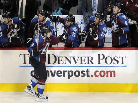 Colorado Avalanche Center Matt Duchene Celebrates