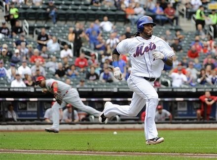 New York Mets' Jose Reyes Runs