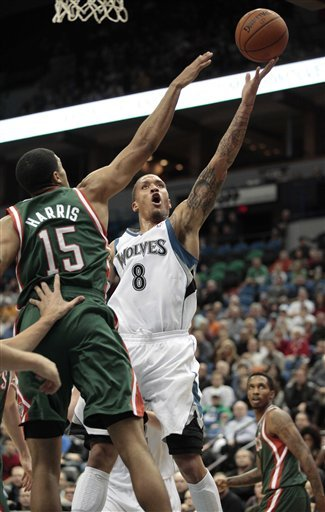 Minnesota Timberwolves Forward Michael Beasley (8) Goes