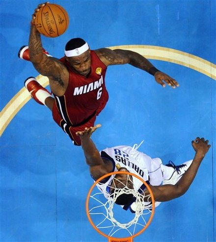 Miami Heat's LeBron James Goes