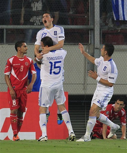 Kyriakos Papadopoulos Of Greece, Top, Celebrates