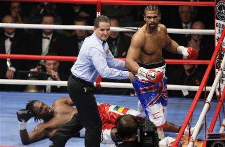 British Boxer David Haye, Top Right, Is