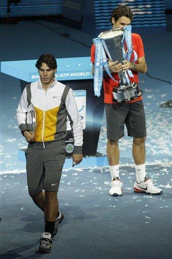 Switzerland's Roger Federer Holds