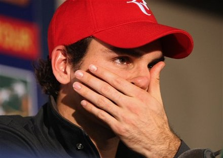 Roger Federer Of Switzerland Is