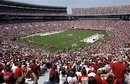 FILE - In this April 21, 2007 file photo, an estimated 92,000 Crimson Tide fans fill Bryant-Denny Stadium during the second quarter of the annual Alabama spring NCAA college football game in Tuscaloosa, Ala. ESPN's foray into spring football started mostly as an attempt to find programming to fill the schedule at new network ESPNU. The number that later caught executives' eyes wasn't a rating but an attendance figure. In 2007, an overflow crowd of more than 92,000 attended Nick Saban's first spring game at Alabama