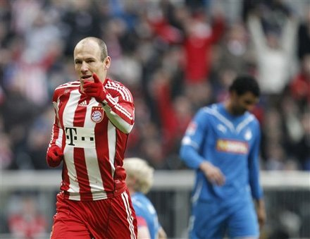 Munich''s Dutch Player Arjen Robben, Right, Celebrates,